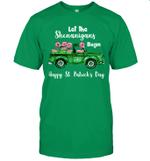 Let The Shenanigans Begin Flamingo Happy St Patrick's Day Shirt