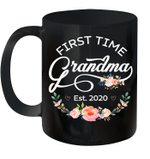 Promoted to Grandma Est 2020 Floral Mug