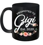 Promoted To Gigi Est 2020 Floral Mug