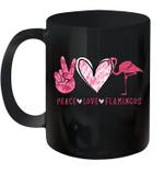Peace Love Flamingo Gift Mug