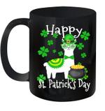 Llama Shamrock Leprechaun Happy St Patrick's Day Funny Mug