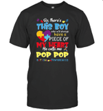 There's This Boy He Call Me Pop Pop Autism Awareness Shirt