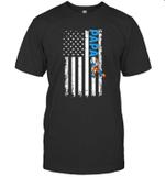 Papa Autism Awareness American Flag Shirt