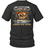 Skull I Have A Freaking Awesome Guardian Angel Watching Over Me In Heaven Shirt