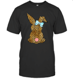 Happy Easter Leopard Bunny Rabbit Gift Shirt