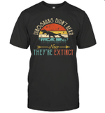 Dinosaurs Didn't Read Now They Are Extinct Vintage Reading Shirt