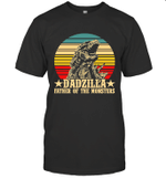 Dadzilla Father Of The Monsters Retro Vintage Shirt