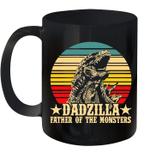 Dadzilla Father Of The Monsters Retro Vintage Mug