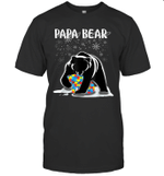 Papa Bear Autism Awareness Gift For Dad With Son Or Daughter Shirt