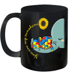You Are My Sunshine Autism Awareness Sunflower Elephant Mom Mug