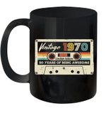 Vintage 1970 Made In 1970 50th Birthday 50 Years Old Gift Mug