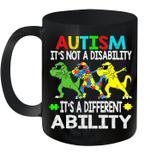 It's Not A Disability Ability Autism Dinosaur Dabbing 2020 Mug