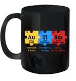 Autism Awareness Puzzle Chemical Element Mug