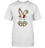 Leopard Bunny Gigi Easter Day Rabbit Funny Happy Easter Day Shirt