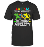 It's Not A Disability Ability Autism Dinosaur Dabbing 2020 Shirt