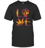 Love Weed Skull Cannabis Sugar Skull Shirt