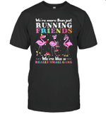 Flamingo We're More Than Just Running Friends We're Like A Really Small Gang Shirt