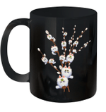 White Cat Willows Flowers Cat Floral Cats Lover Gift Mug
