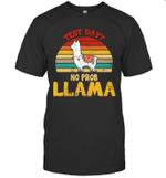 Test Day No Prob Llama Teacher Exam Testing Vintage Retro Shirt