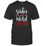 Sister Of The Wild One Buffalo Plaid Lumberjack 1st Birthday Shirt