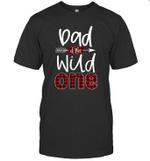Dad Of The Wild One Buffalo Plaid Lumberjack 1st Birthday Shirt
