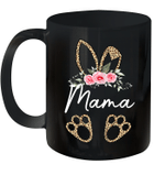 Mother's Day Easter Gifts For Mama Leopard Print Bunny Mug