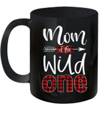 Mom Of The Wild One Buffalo Plaid Lumberjack 1st Birthday Mug