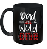 Dad Of The Wild One Buffalo Plaid Lumberjack 1st Birthday Mug