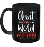 Aunt Of The Wild One Buffalo Plaid Lumberjack 1st Birthday Mug