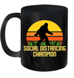 Bigfoot Social Distancing Champion Funny Mug