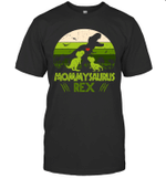 Vintage Retro 2 Kids Mommysaurus Dinosaur Lover Shirt