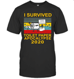 I Survived Toilet Paper Apocalypse 2020 Vintage Retro Shirt