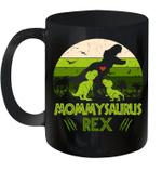 Vintage Retro 2 Kids Mommysaurus Dinosaur Lover Mug