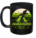 Vintage Retro 2 Kids Mamasaurus Dinosaur Lover Mug