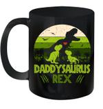 Vintage Retro 2 Kids Daddysaurus Dinosaur Lover Mug