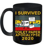 I Survived Toilet Paper Apocalypse 2020 Vintage Retro Mug