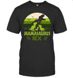 Vintage Retro 3 Kids Mamasaurus Dinosaur Mother's Day Gift Shirt