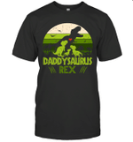 Vintage Retro 3 Kids Daddysaurus Dinosaur Father's Day Gift Shirt