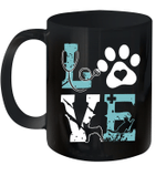 Pet Paw Love Nurse Mug Funny Dog Graphic Tees