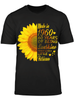 Sunflower made in 1960 60 years of being sunshine mixed with a little hurricane shirt