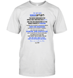 To My Son Senior 2020 You Were Made For This Love Mom Shirt
