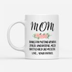 Coffee Mug Gift Ideas Mother's Day - Thank you for putting up with my sister - White Mug