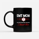 Coffee Mug Gift For Mom Ideas - EMT Mom Emergency Medical EMS Paramedics EMR - Black Mug