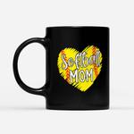 Coffee Mug Gift For Mom Ideas - Softball Mom Shirts For Women Baller Mama Mother's Day - Black Mug