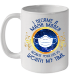 I Became A Maker Because Your Life Is Worth My Time Diamond Mug