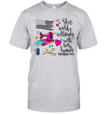 She Works Willingly With Her Hands Proverbs 31 13 Funny Shirt