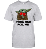 Baby Yoda Hug Heart Yoda One For Me Funny Shirt