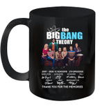The Big Bang Theory 2007 2020 12 Seasons 279 Episodes Signature Thank You For The Memories Mug