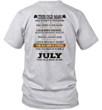 This Old Man Has Fought A Thousand Battles And Is Still Standing Born In July Shirt