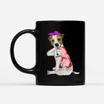 Coffee Mug Gift For Mom Ideas - Women Jack Russell Terrier Dog Tattoo I Love Mom - Black Mug